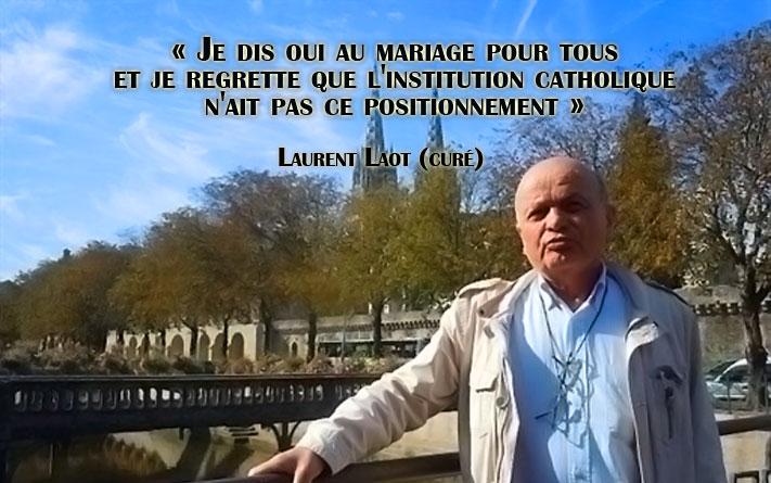 un curé de Quimper, en Bretagne, écrit une lettre ouverte en faveur du mariage gay