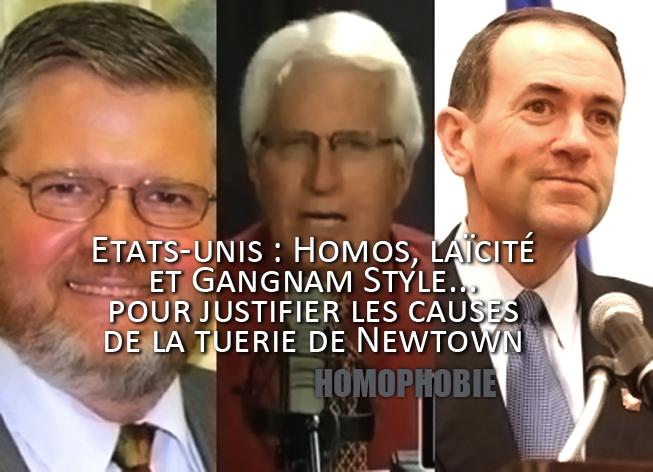 Etats-unis : Homos, laïcité et Gangnam Style, causes de la tuerie de Newtown