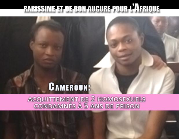 Cameroun: acquittement de 2 homosexuels condamnés à 5 ans de prison