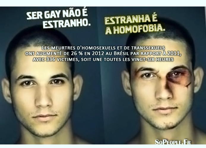 Brésil : un meurtre d'homosexuel par jour l'an dernier