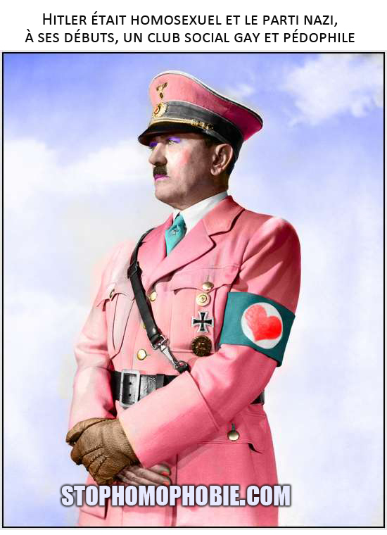 Hitler était homosexuel et le parti nazi, à ses débuts, un club social gay et pédophile ?!