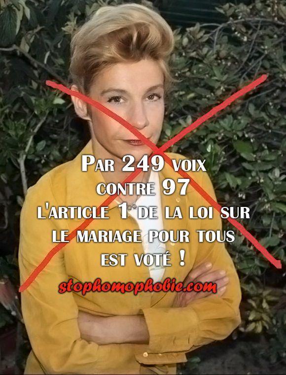 Les députés français ont adopté samedi l'article clé du projet de loi sur le mariage et l'adoption pour tous