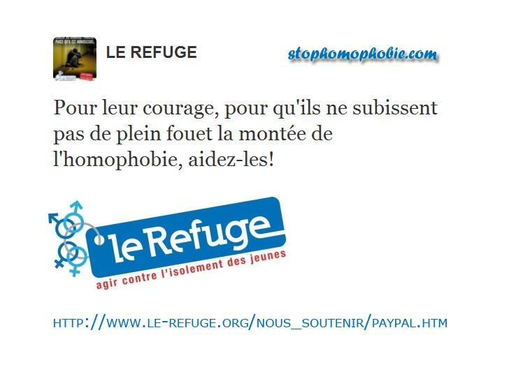 Soutenons le Refuge !