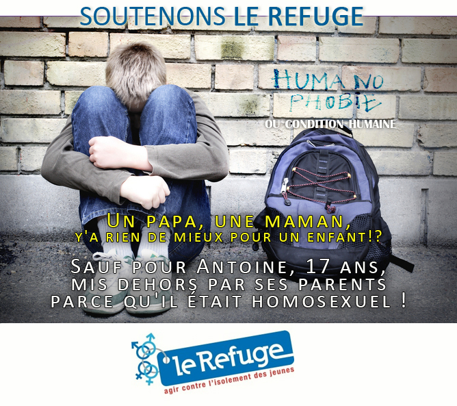 Un papa, une maman, y'a rien de mieux pour un enfant!? Sauf pour Antoine, 17 ans, mis dehors par ses parents parce qu'il était homosexuel !
