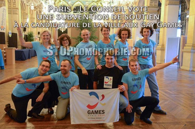 Paris : Le Conseil vote une subvention de soutien à la candidature de la ville aux Gay Games