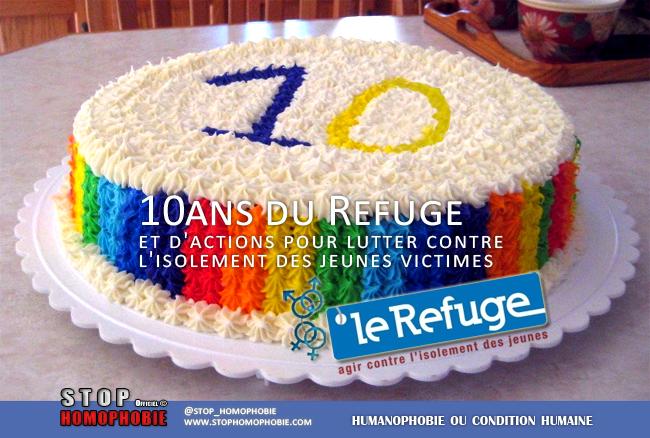 10ans du Refuge et d'actions contre l'isolement des jeunes victimes d'homophobie !