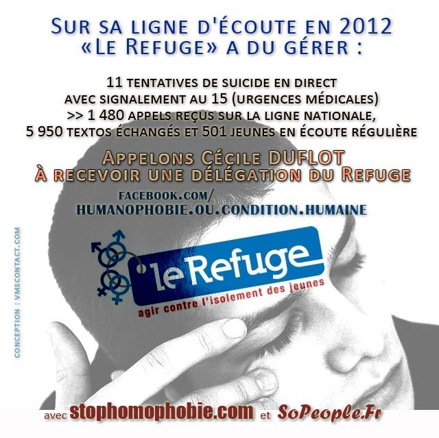 Appelons @CecileDuflot à recevoir une délégation du Refuge!