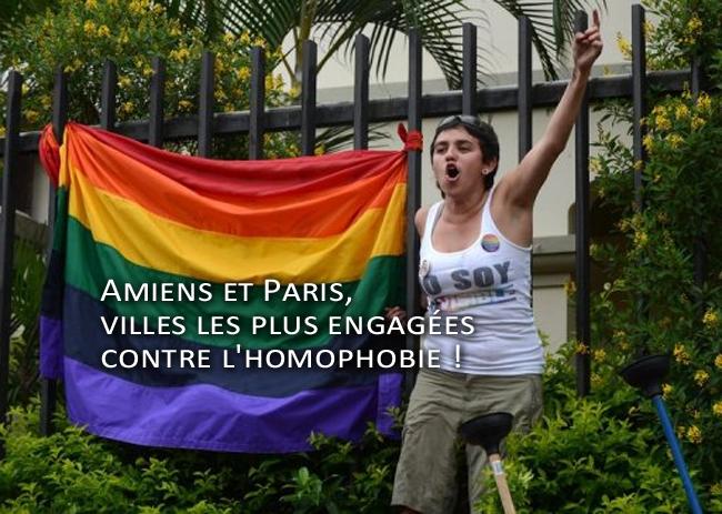 Amiens et Paris, villes les plus engagées contre l'homophobie !