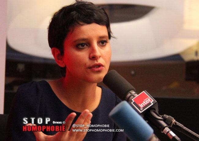 """Au micro de France Inter, Najet Vallaud-Belkacem a vivement réagi à l'homophobie croissante qu'elle qualifie d' """"intolérable"""""""