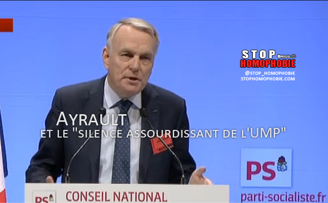 """VIDEO - Mariage pour tous : Ayrault et le """"silence assourdissant de l'UMP"""""""