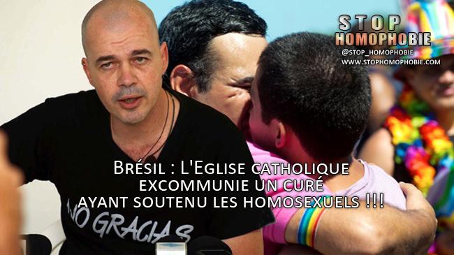 Au Brésil, l'Eglise catholique excommunie un curé ayant soutenu les homosexuels