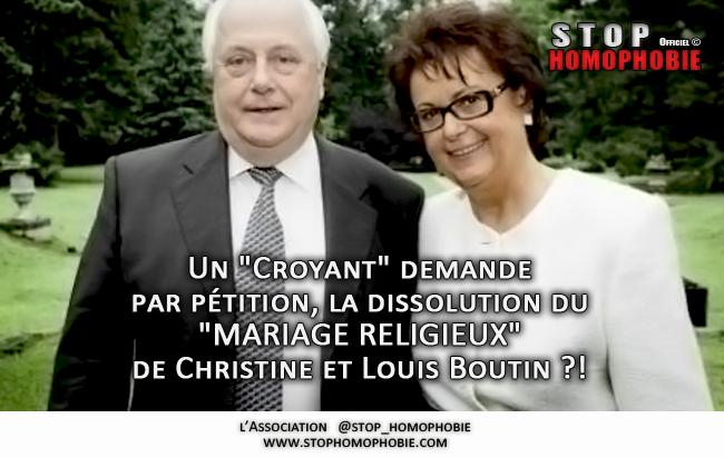 """Exiger du Vatican la dissolution du """"MARIAGE RELIGIEUX"""" de Christine et Louis Boutin ?!"""