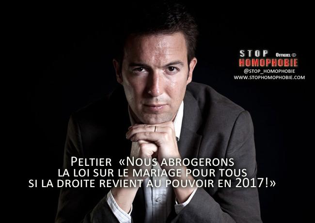 INTERVIEW - Le vice-président de l'UMP souhaite que sa formation s'engage à abroger la loi sur le mariage pour tous, si la droite revient au pouvoir en 2017