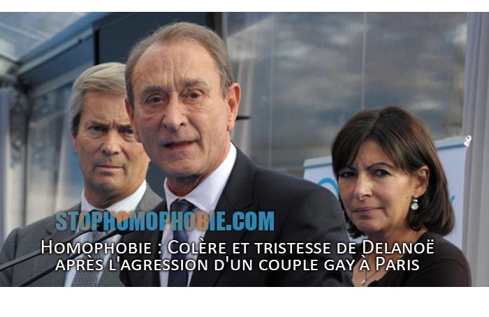Homophobie : Colère et tristesse de Delanoë après l'agression d'un couple gay à Paris