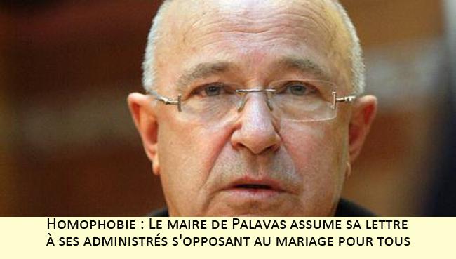 Homophobie : Le maire de Palavas assume sa lettre à ses administrés s'opposant au mariage pour tous
