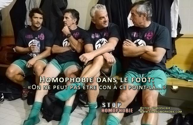 Homophobie dans le foot: «On ne peut pas être con à ce point-là...»