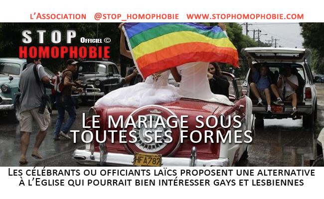 Le mariage sous toutes ses formes : Les célébrants ou officiants laïcs proposent une alternative à l'Eglise qui pourrait bien intéresser gays et lesbiennes