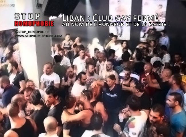 Liban : Club gay fermé au nom de l'honneur et de la patrie et de l'homophobie !
