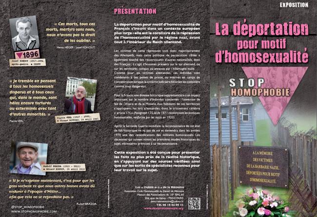 Exposition : La déportation pour motif d'homosexualité. Mise en contexte, témoignages et reconnaissance...