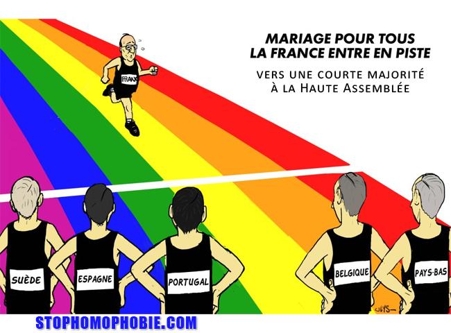 Mariage gay : vers une courte majorité à la Haute Assemblée