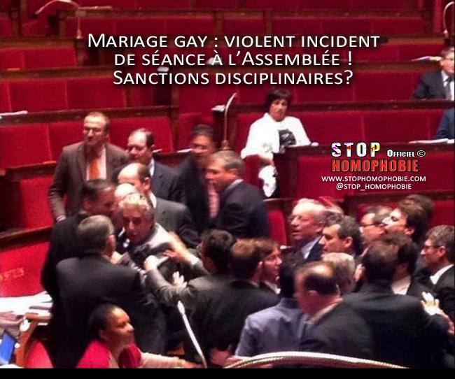 Mariage gay : violent incident de séance à l'Assemblée ! Sanctions disciplinaires? Ils vont au poste?
