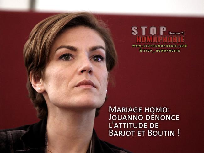 Mariage homo: Jouanno dénonce l'attitude de Barjot et Boutin !