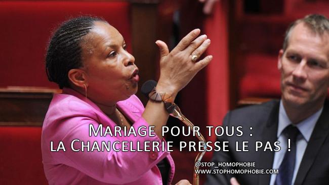 Mariage pour tous : la Chancellerie presse le pas !