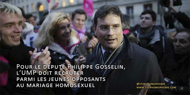 Pour le député Philippe Gosselin, l'UMP doit recruter parmi les jeunes opposants au mariage homosexuel