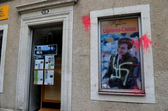 Pau : Tags au siège du PS et croix gammée à la permanence de la députée