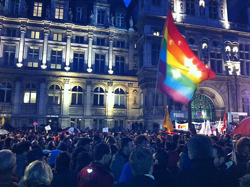 En réponse à l'#homophobie, 5000 manifestants pro #mariagepourtous et #Égalité à Paris