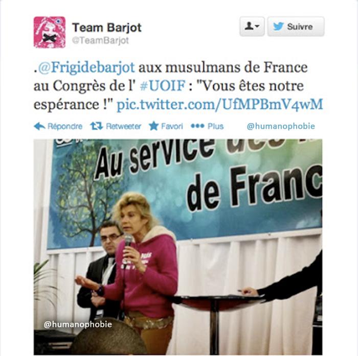La Manif Pour Tous : Quand Frigide Barjot lèche les babouches de l'UOIF !