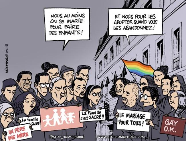 """Une centaine d'anti-mariage gay manifestent contre """"les violences policières"""""""