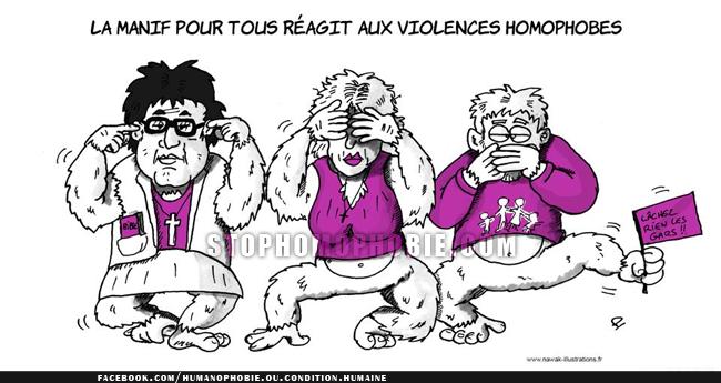 """Alors que les violences homophobes explosent en France, Frigide Barjot et sa """"Manif pour tous"""" nient toute responsabilité..."""
