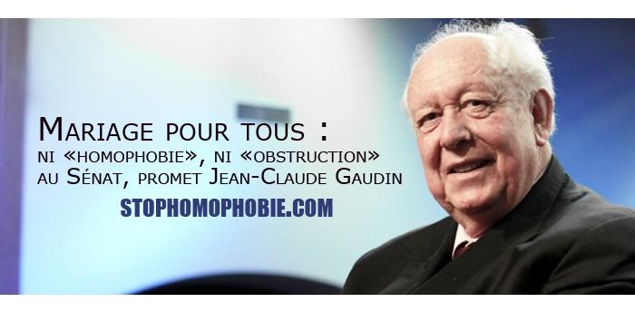 Mariage pour tous : ni «homophobie», ni «obstruction» au Sénat, promet Jean-Claude Gaudin