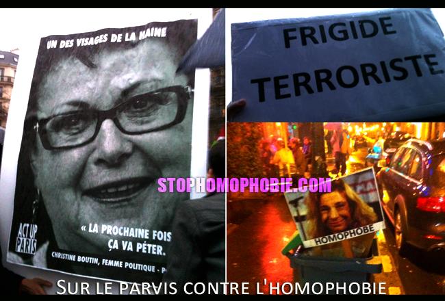 Moblisation contre les violences et la haine sur le parvis de l'hôtel de Ville de Paris : «L'homophobie tue, Barjot homophobe !
