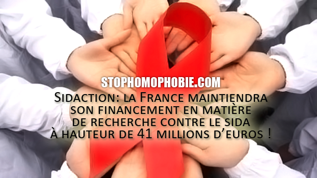 Sidaction: la France maintiendra son financement en matière de recherche contre le sida à hauteur de 41 millions d'euros !