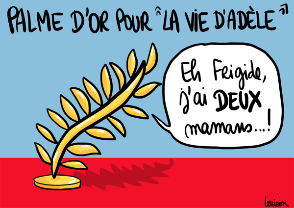 """""""La palme d'or de La vie d'Adèle, un pied de nez monumental aux anti-mariage gay"""""""