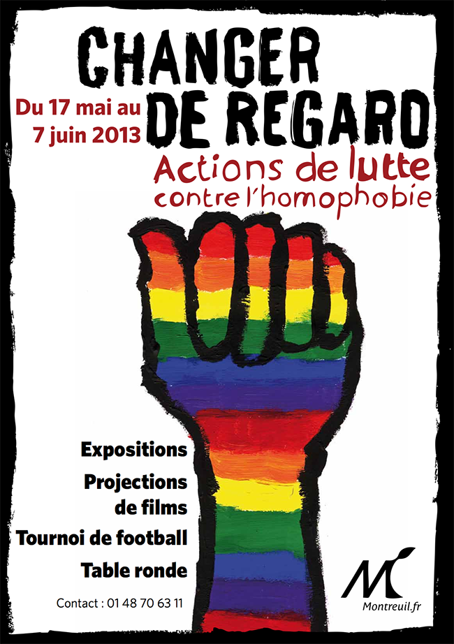 changer de regard actions de lutte contre l homophobie du 17 mai au 7 juin. Black Bedroom Furniture Sets. Home Design Ideas