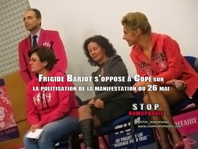 Mariage pour tous : Frigide Barjot s'oppose à Copé sur la politisation de la manifestation du 26 mai