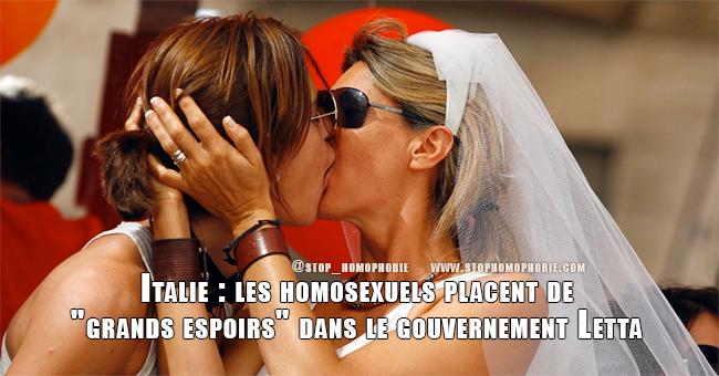 """Italie: les homosexuels placent de """"grands espoirs"""" dans le gouvernement Letta"""