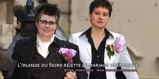l irlande du nord rejette le mariage homosexuel. Black Bedroom Furniture Sets. Home Design Ideas