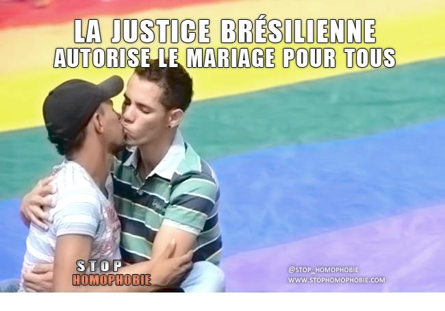La justice brésilienne autorise le mariage pour tous ;)