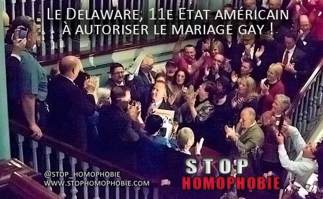 Le Delaware, 11e Etat américain à autoriser le mariage gay !