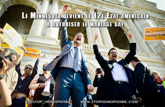 Le Minnesota devient le 12e Etat américain à autoriser le mariage gay