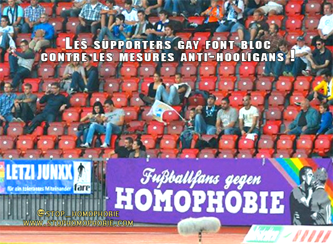 Les supporters gay font bloc contre les mesures anti-hooligans !