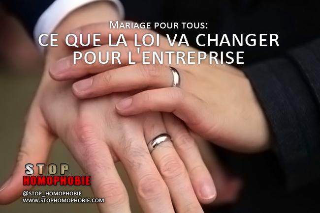 Mariage pour tous: ce que la loi va changer pour l'entreprise.