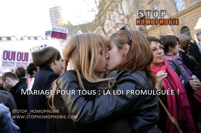 Mariage pour tous : la loi promulguée !