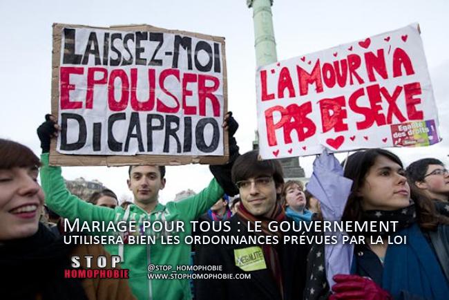 Mariage pour tous : le gouvernement utilisera bien les ordonnances prévues par la loi