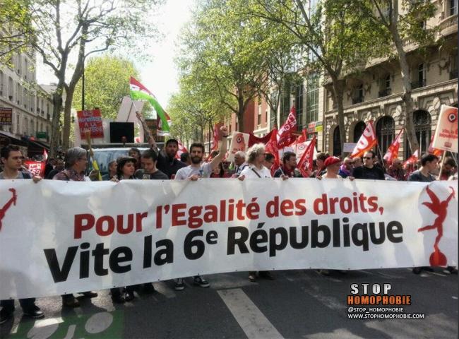 5 mai : Pour l'égalité des droits, vite la 6eme république!
