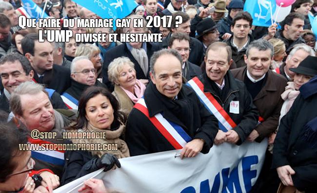 Que faire du mariage gay en 2017 ? L'UMP divisée et hésitante